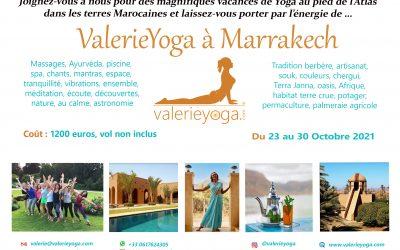Vacances de Yoga du 23 au 30 Octobre 2021 à Marrakech